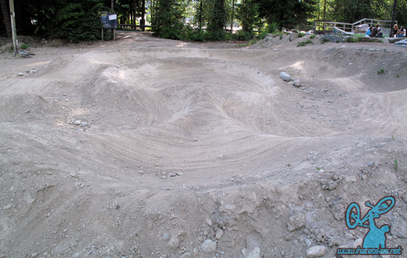 The pumptrack at Whistler