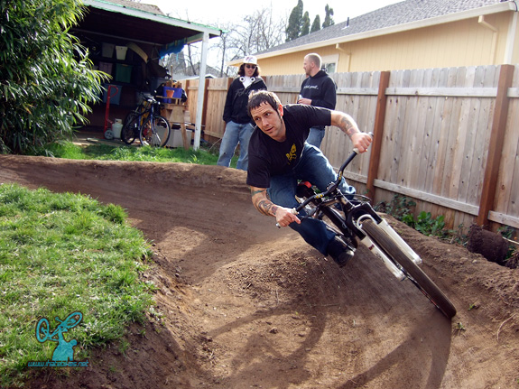 jim bob s pump track basic loop backyard track