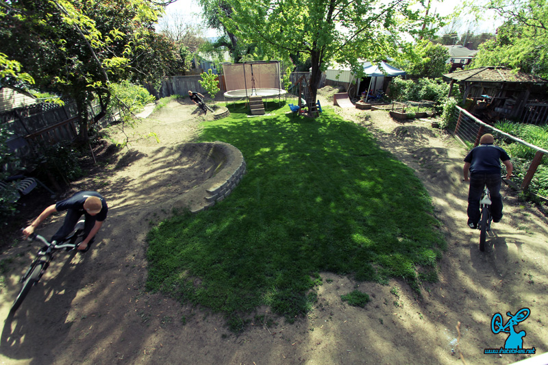 Backyard Pumptrack backyard spotlight: izaak's pumptrack