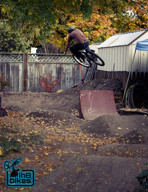 Backyard Wood Pump Track : Backyard Spotlight Izaak?s Pumptrack