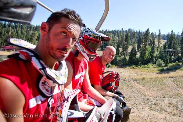 C.G., Minnaar, and Mr. Rogne during the ride up