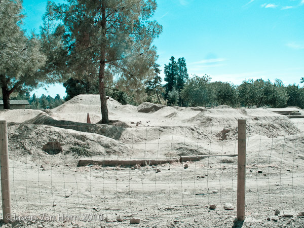The view upon entering the bike complex at Woodward Park in Fresno, CA.