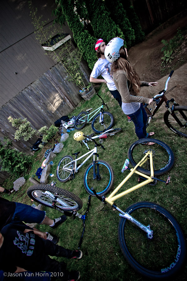 The yard was littered with bikes