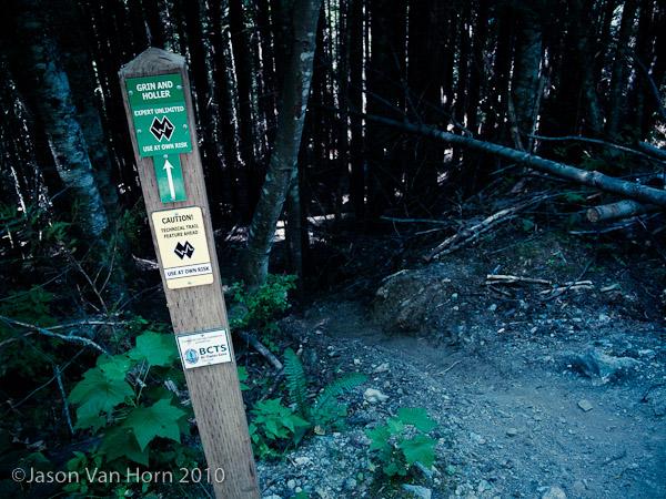 Grin N Holler Trail head