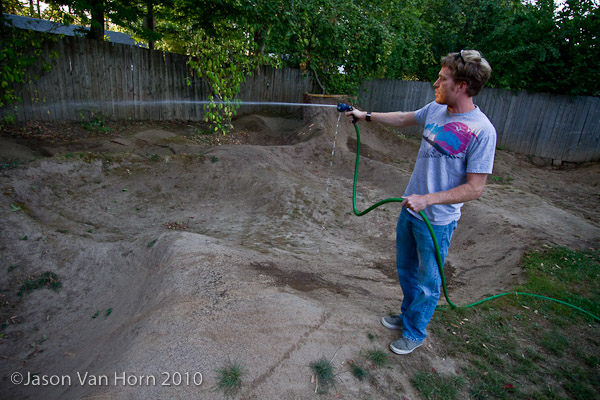 Paddy and his pump track