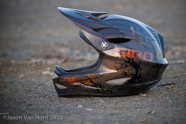 Giro Remedy Carbon Fullface helmet. Other than the dent, its just like new.