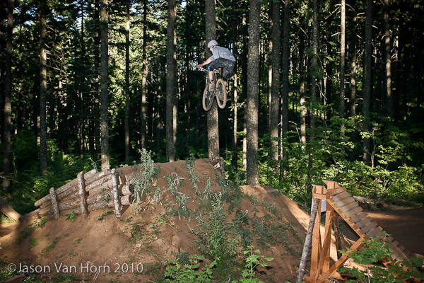 Cedar Kyes,crossed up on the first set of the FMX line.