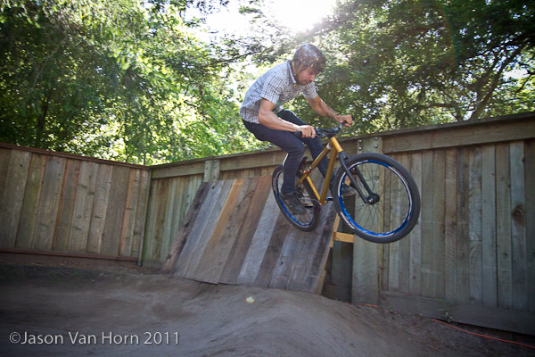 backyard pump track isn t complete without a sweet wall ride