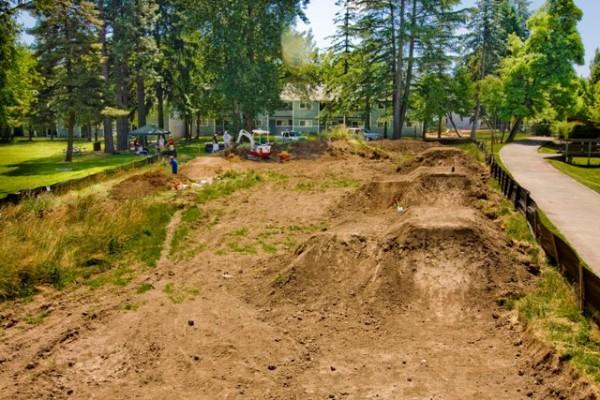 Bike Park Construction in progress