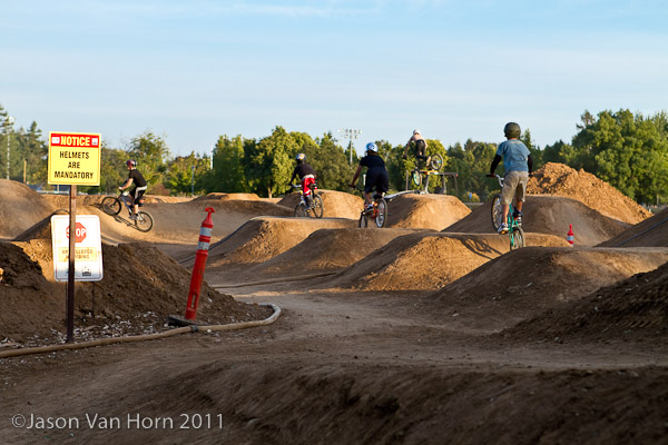 Grom Line at the bike park