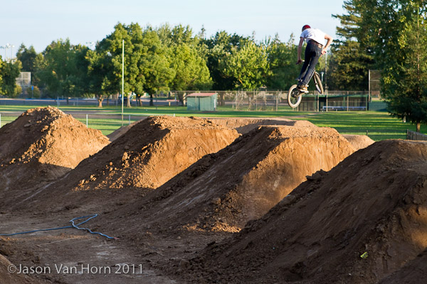 The biggest jumps currently ridable weren't quite there yet during our visit.