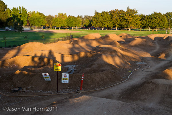 Possibly a second pump track; mid-construction
