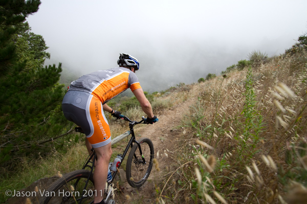 Justin rocked his rigid steel hardtail harder than anyone I've seen in quite some time.