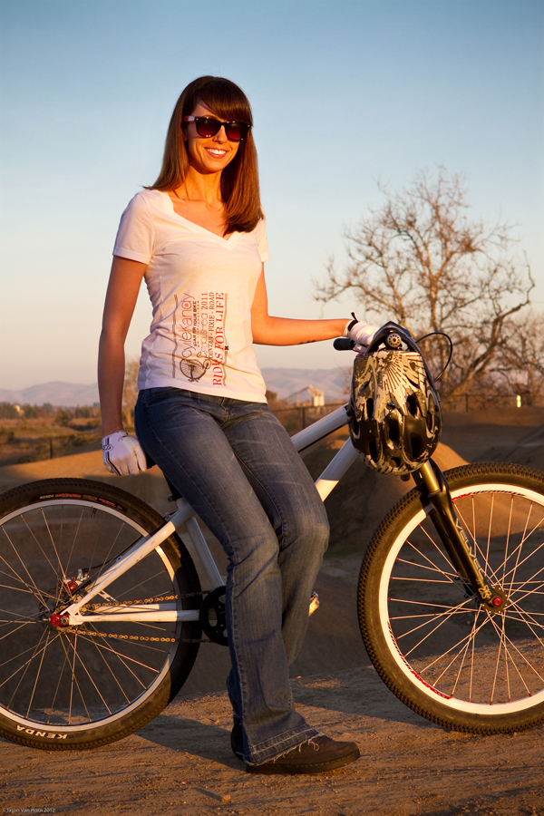 Inga at the bike park