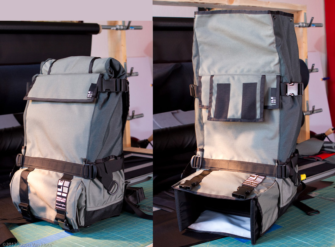 ILE Photo Bag Prime in load and ready modes