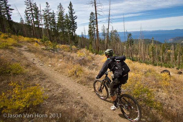 The Clik Elite Compact Sport in action near Lake Tahoe.