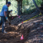 Trail Work Being performed on Bishops Walk Trail in Oakland's Joaquin Miller Park