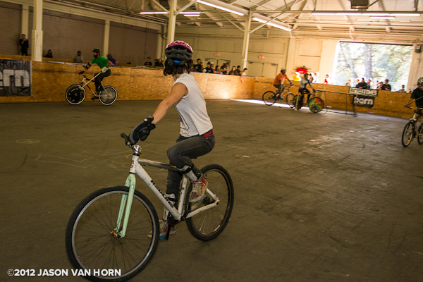 Bike polo action at the SF Bike Expo