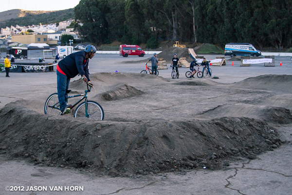 A pump track for the groms