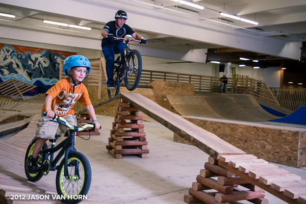 Every level of rider is accommodated at the Lumberyard.