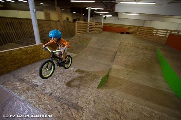 Intermediate jumpline at the Lumberyard Bike Park.