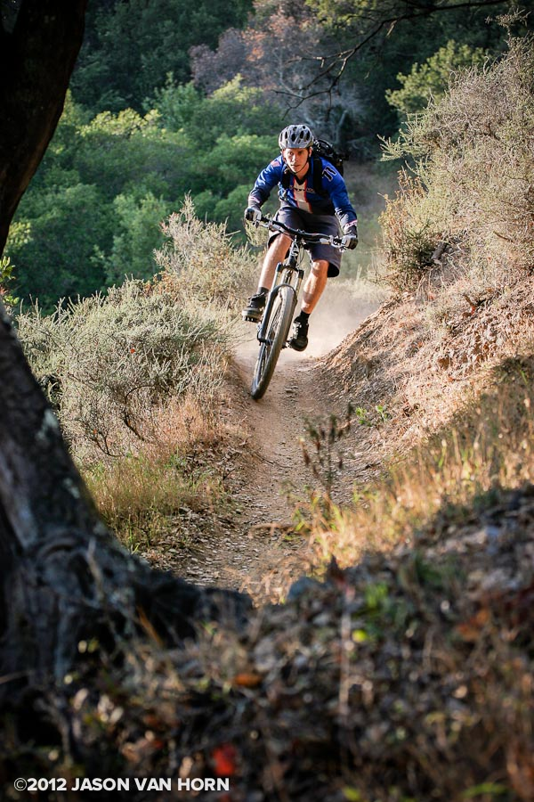Eric Dimmick rides a social trail near China Camp circa 2007.
