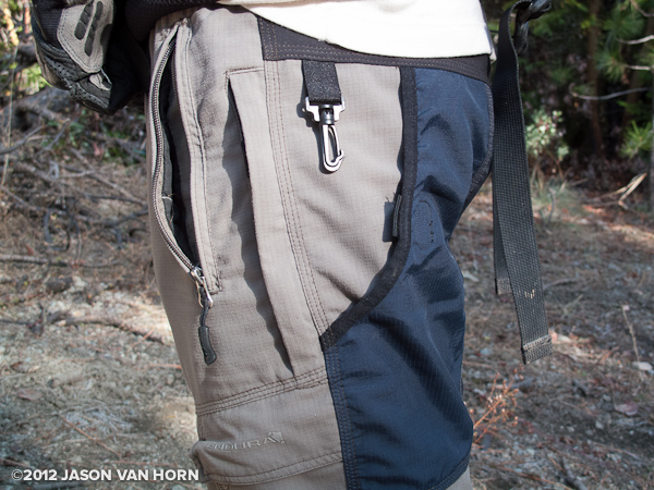 Side and rear pocket view of the Hummvee short.