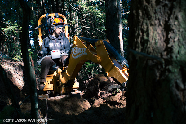 Kevin Smallman operates an ST-240 Trail Machine at Tamarancho.