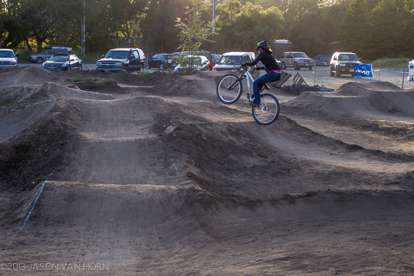 Inga on the Epicenter Pumptrack in Aptos.