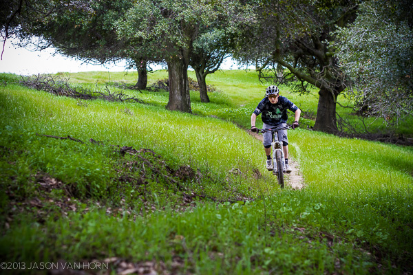 An actual piece of single track on EBRPD land at the Crocket Hills Park.
