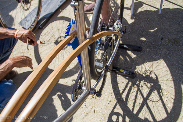 Wood seat stays on Boo Bikes.