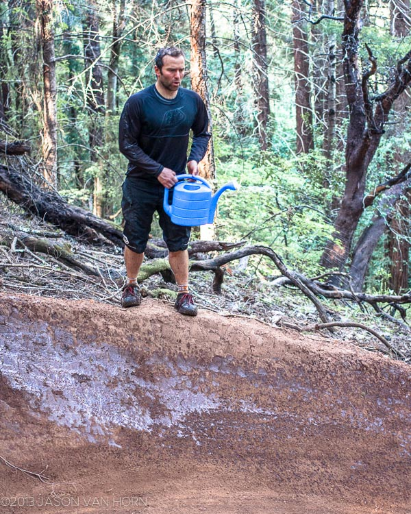 Davey Simon, volunteer coordinator extraordinaire, would like your aid to keep the trail in good shape.