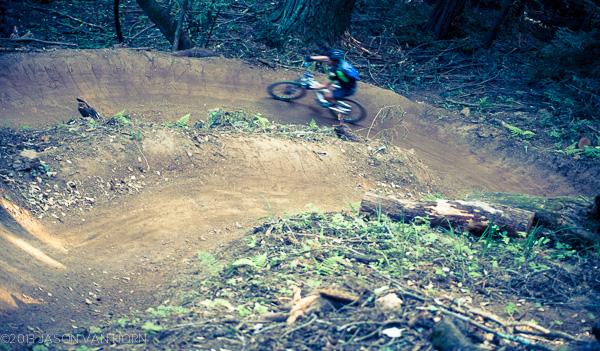 A rider enjoys some of the bermy goodness called Endor.