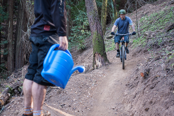help keep the trail watered.