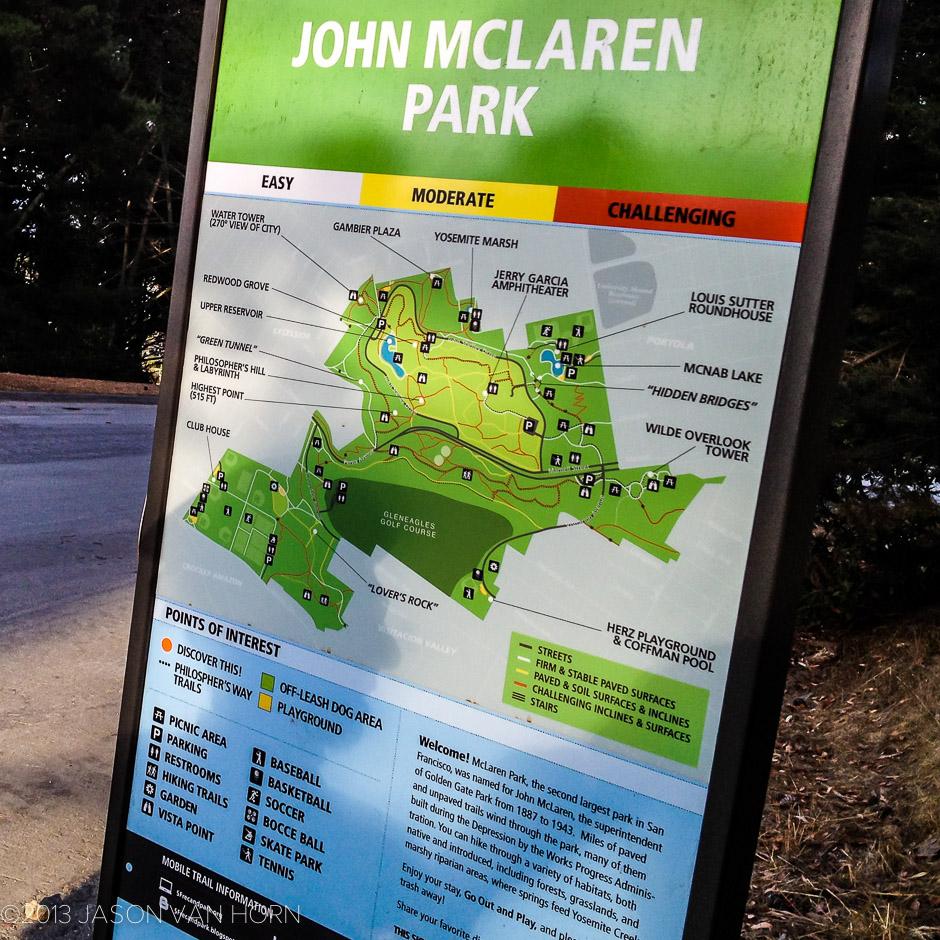 New signage at John McLaren Park.