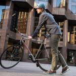 Betabrand Olive Bike Jeans and Bike Shirt