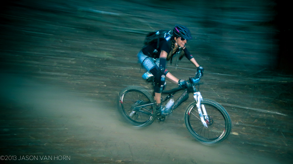 Inga at Demo riding the TRc.
