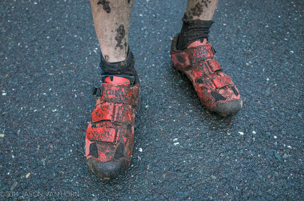 The Giro Privateer mountain bike shoes look good dirty.