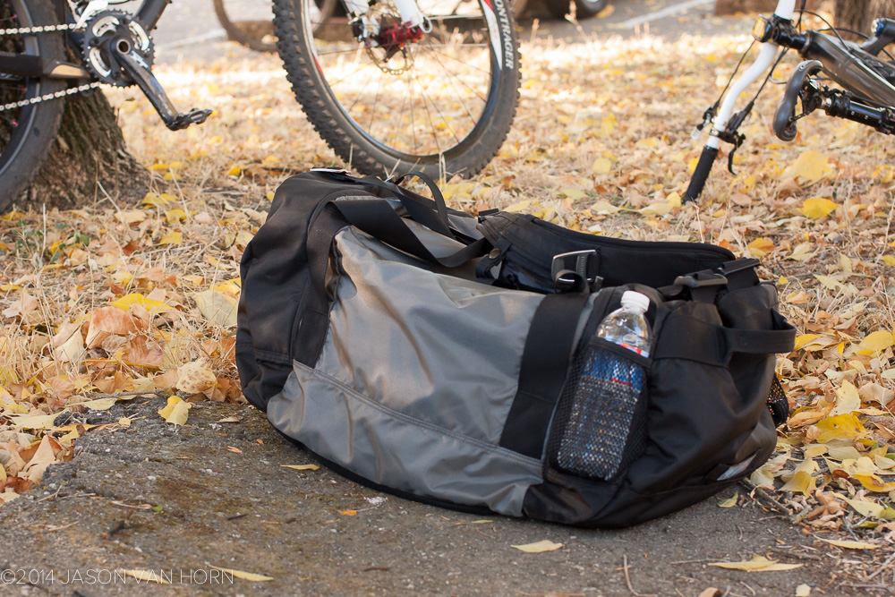 The duffle has two water bottle slots which do a good job holding bottles in.