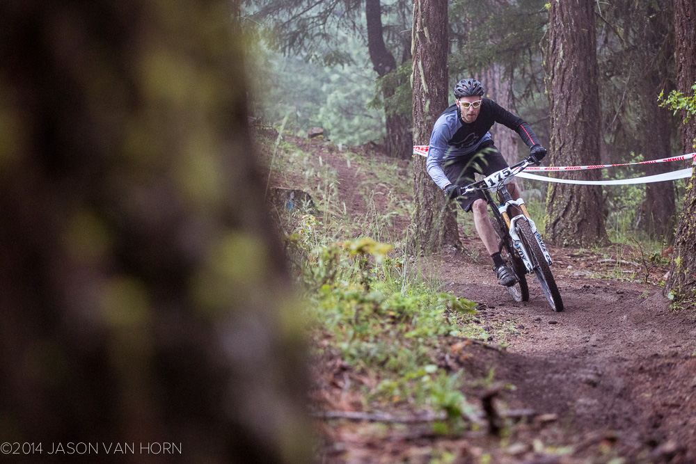 Participants in the DH had varied setups that ranged from trail riding to full blown DH.