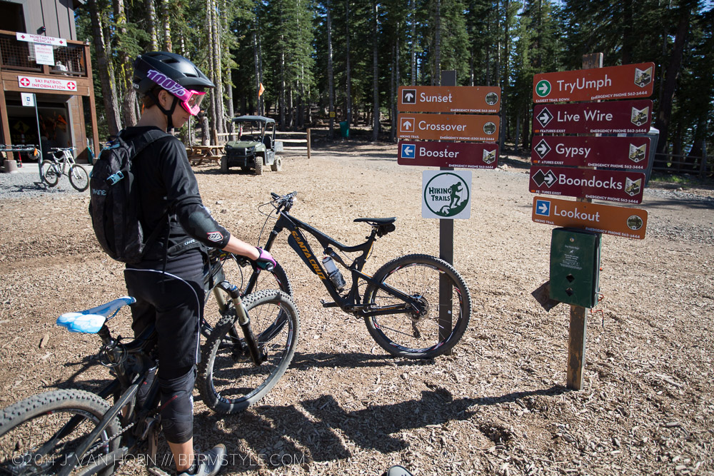 Trail signs at Northstar