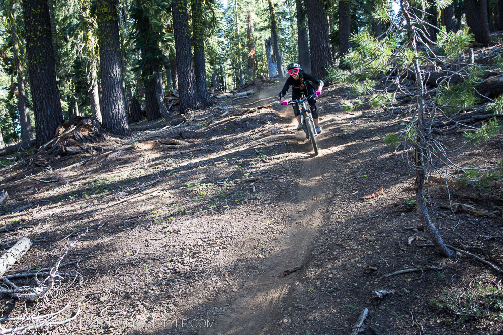 riding the Tahoe Trail at Northstar