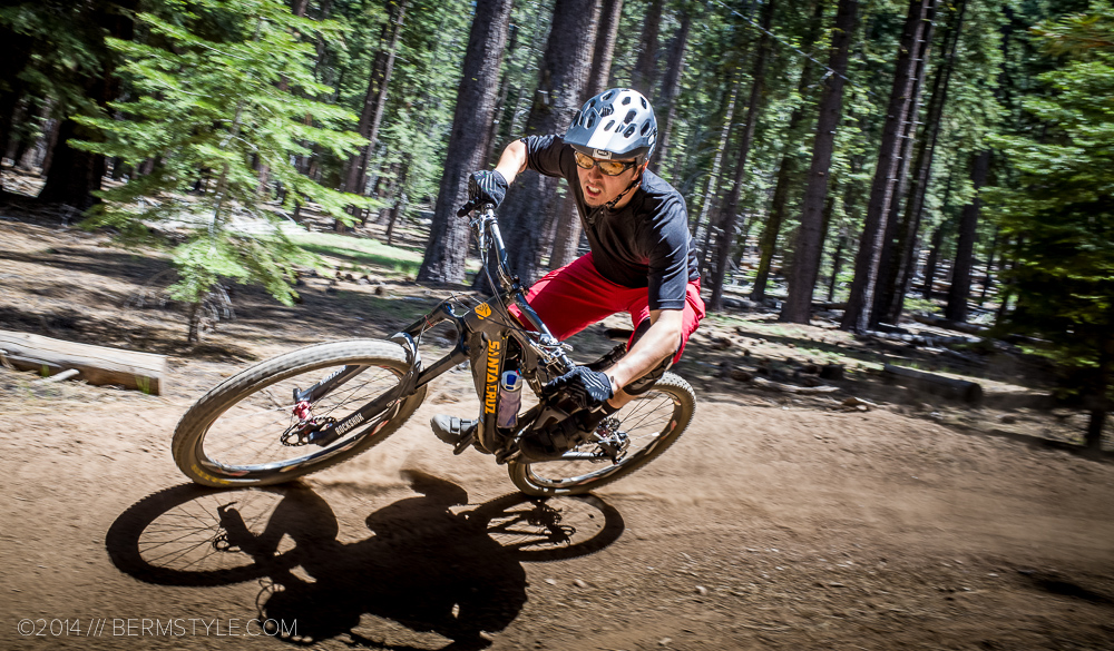 Rocking the Bell Super at the Corral Trails in Tahoe.