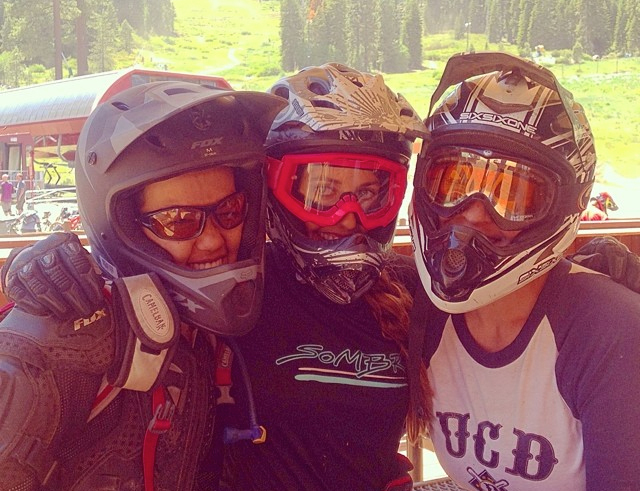 Ladies at the Northstar: Jamie, Inga and Penny on a recent day at the Northstar Bike Park