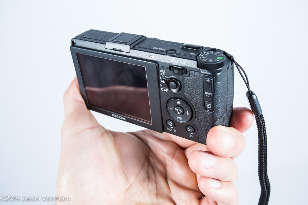 Back of the Ricoh GR