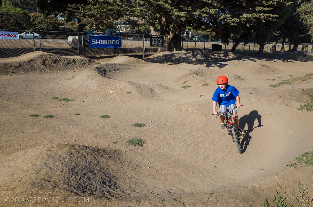 A local grom at the West Side Pump Track