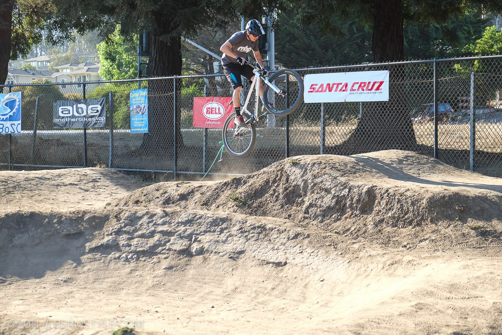 A classic camel hump BMX track feature, scaled down