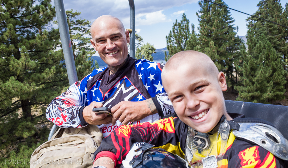 Moto Legend Mike Metzger and son.