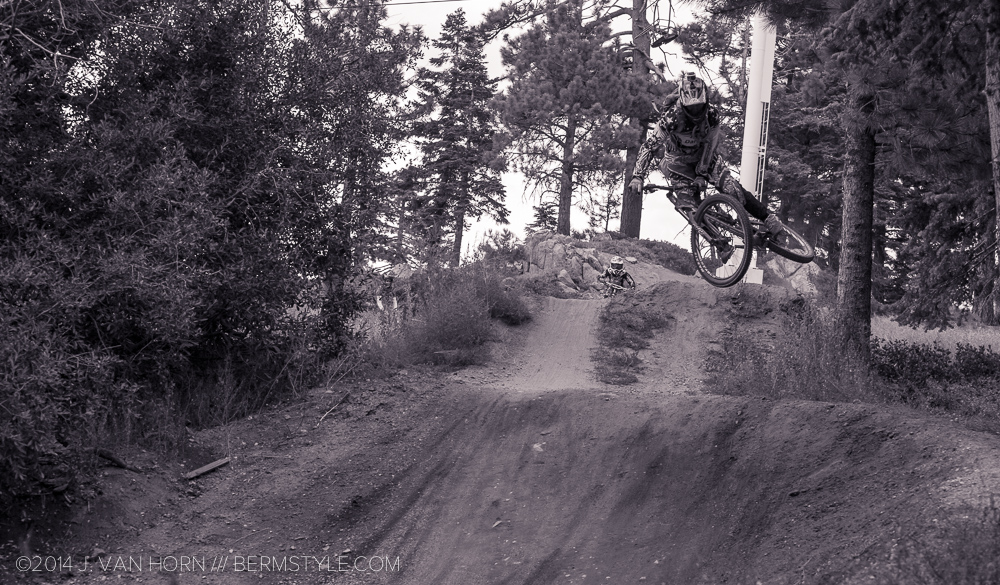 Mike Metzger drops into Party Wave at the Snow Summit Bike Park at Big Bear.