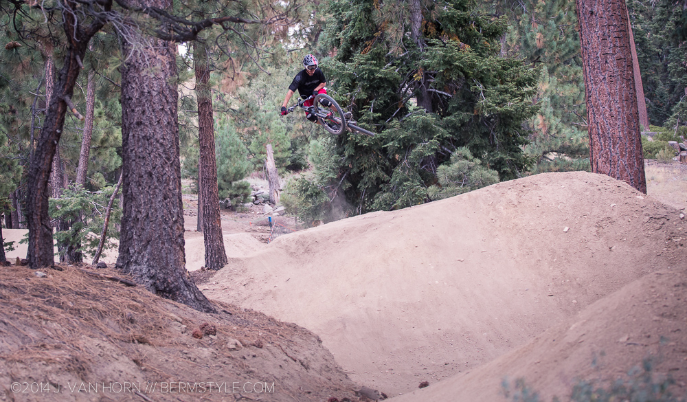 Flowing through a jump line on Party Wave at Big Bear